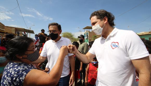 """Daniel Salaverry dijo creer que su candidatura presidencial """"está más fuerte que nunca"""" pese a la revelación del 'Vacunagate' que tiene como uno de sus protagonistas a Martín Vizcarra. (Foto: Somos Perú)"""