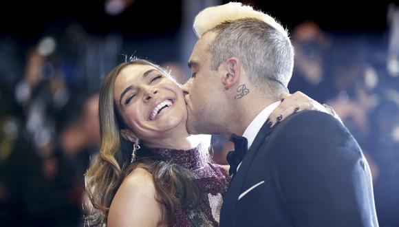Robbie Williams y su esposa (Foto: AFP)