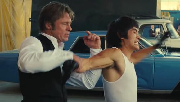 Familiares y amigos de Bruce Lee condenaron su representación en la cinta de Tarantino. En la imagen Brad Pitt y Mike Moh. (Foto: Sony Pictures)
