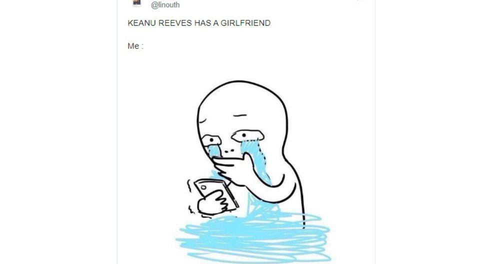 Keanu Reeves presentó a su primera novia en décadas y sus fans enloquecieron. (Foto: Twitter)
