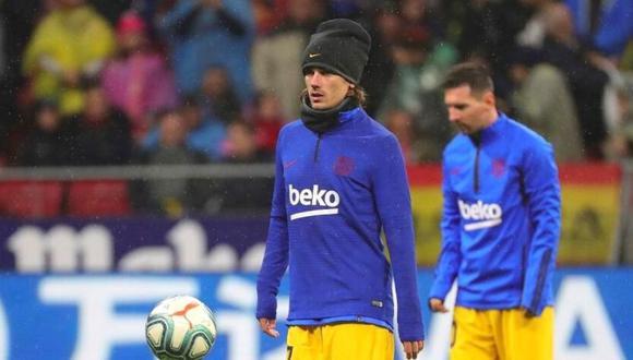 Lionel Messi y Antoine Griezmann no entrenan con Barcelona. (Foto: EFE)