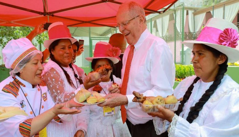 """PPK consideró que Mistura """"es un emblema de la comida peruana"""" e indicó que en los últimos 15 años, el sector gastronómico ha dado un gran salto. (Foto: Presidencia de la República)"""