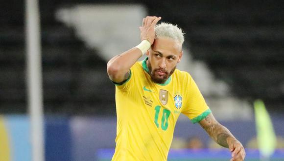 Neymar marcó en la goleada de Brasil ante Perú por la Copa América 2021. (Foto: Reuters)