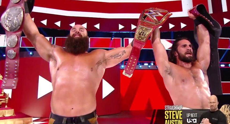 WWE Raw: Seth Rollins y Braun Strowman se consagraron como campeones en pareja | Foto: WWE