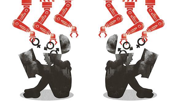 """""""En estos tiempos de incertidumbre, ciberespacio y caudillismo político y social hemos perdido la capacidad de leer los territorios grises, de entender los eventos ambiguos"""". (Ilustración: Rolando Pinillos)"""