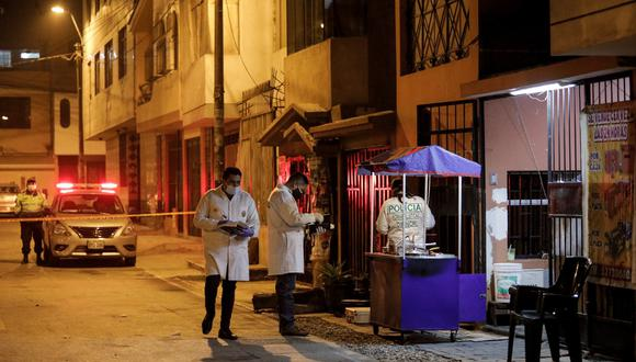 El caso quedó a cargo de la División de  Homicidios de la Dirincri. Foto: Joel Alonzo/@photo.gec