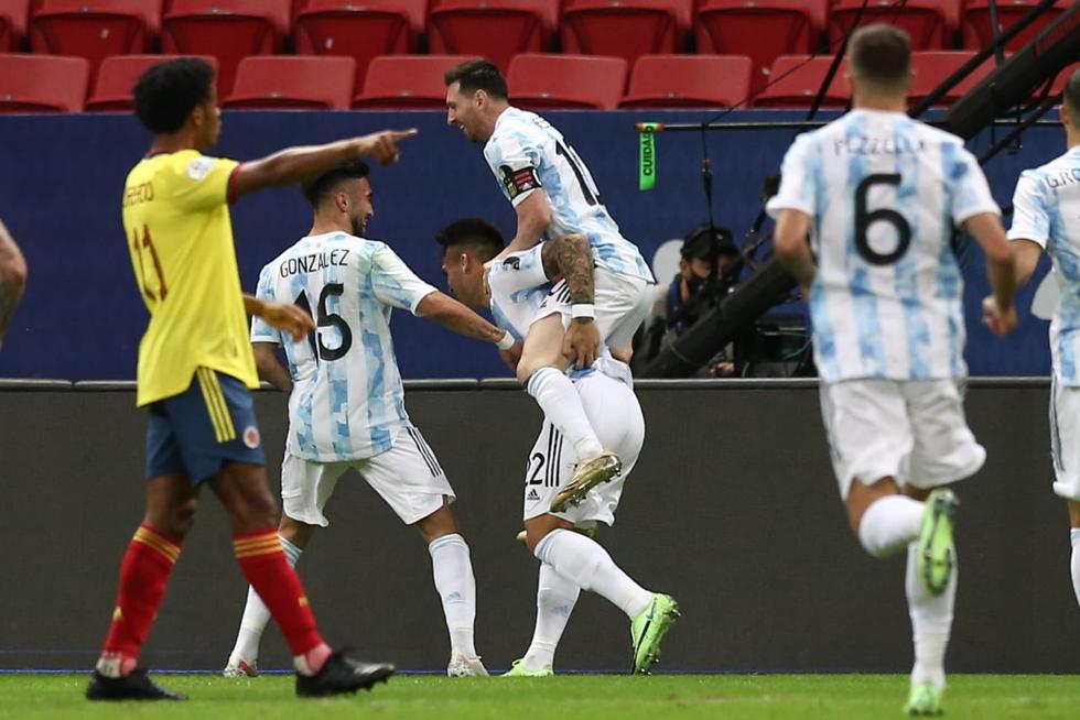 Argentina vs. Colombia disputaron las semifinales de la Copa América   FOTO: GEC