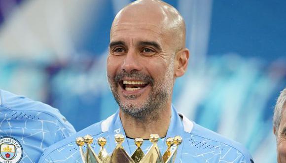 Guardiola ha guiado a Manchester City a tres títulos de la Premier League. (Foto: AFP)