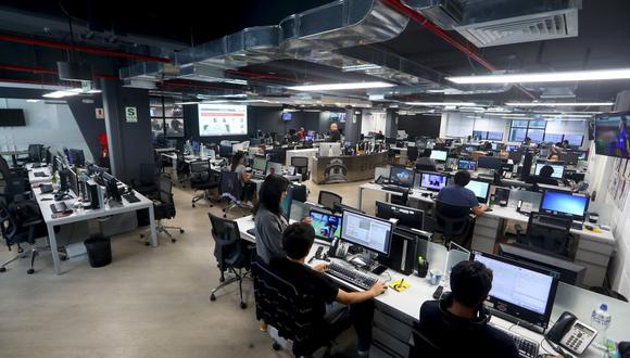 La nueva sala de redacción de El Comercio en la sede de Santa Catalina