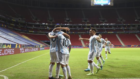 Argentina es líder del Grupo A de la Copa América, junto con Chile (Foto: AFP)