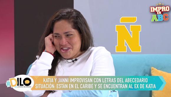 Katia Palma en el ABC Impro de #Dilo con Jannina Bejarano.