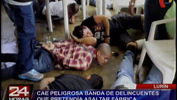 Lurín: cae peligrosa banda que pretendía asaltar una fábrica