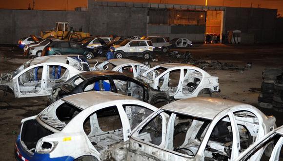 Callao: intervienen depósito donde desmantelaban vehículos