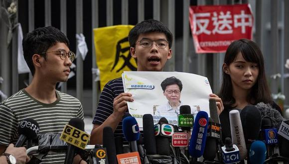 """""""Es sin duda alguna el periodo de fraude electoral más escandaloso de la historia de Hong Kong"""", afirmó Wong. (Archivo/EFE/EPA/PILIPEY ROMANO)."""