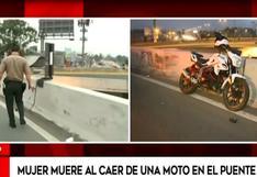 Mujer muere al caer de una motocicleta en el puente Derby | VIDEO
