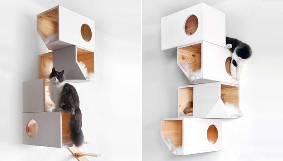 Regálale a tu gato este 'árbol' para darle más privacidad