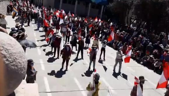 Cusco: pobladores de Espinar realizan desfile por Fiestas Patrias en medio de la pandemia (Foto: captura de pantalla | Facebook)