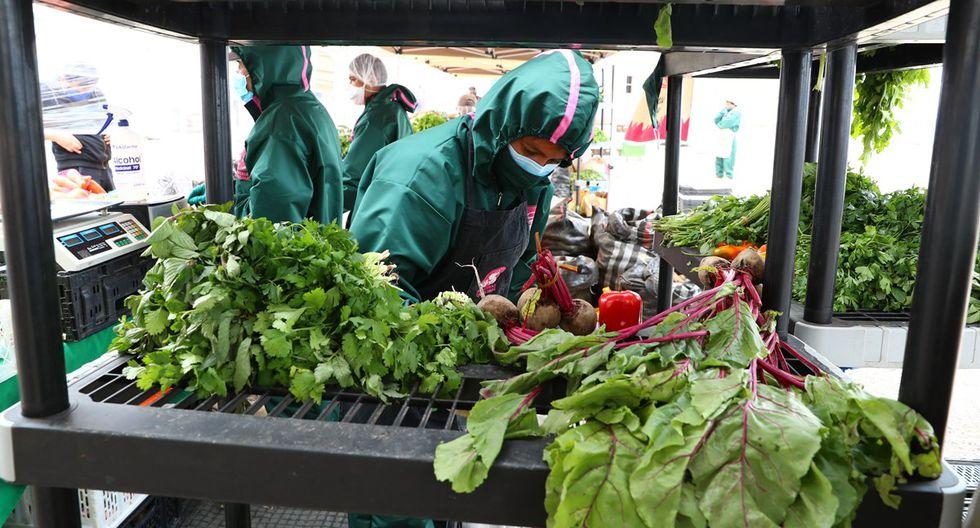 Las hortalizas suelen tener mucha demanda. En la Agroferia Campesina hay en promedio siete proveedores de vegetales frescos. (Foto: Alessandro Currarino)