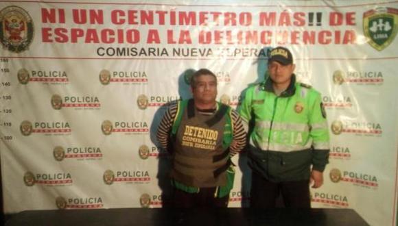 Julian Oriundo Rojas fue detenido tras ocasionar la muerte de un perro en Villa María del Triunfo. (Foto: PNP)