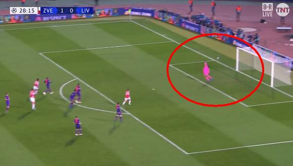 Liverpool vs. Estrella Roja: 'Reds' recibieron tremendo golazo en la Champions League. (Foto: captura)