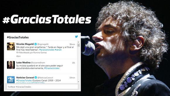 #GraciasTotales: el hashtag del adiós a Gustavo Cerati