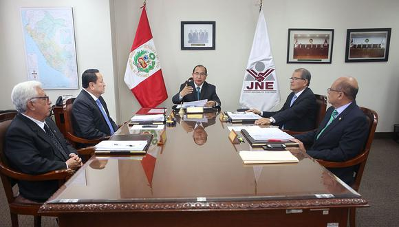 El mandato de cuatro de los cinco magistrados del pleno del JNE se vencerá en los próximos meses. (Foto: Difusión)