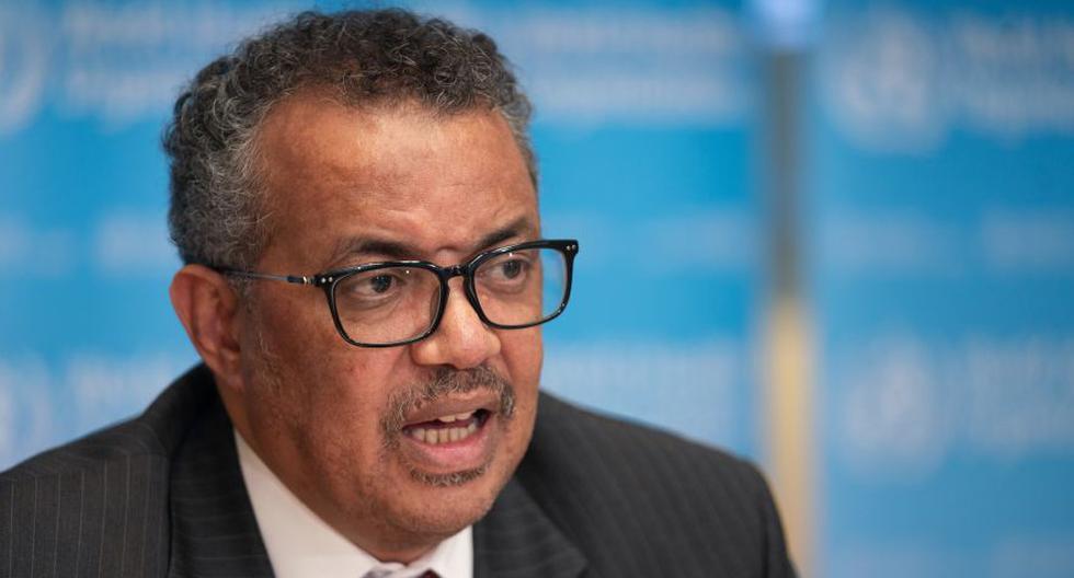 El Director General de la Organización Mundial de la Salud (OMS), Tedros Adhanom Ghebreyesus, en una rueda de prensa sobre el coronavirus COVID-19, en Ginebra. ( Christopher Black / World Health Organization / AFP).