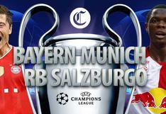 Bayern Múnich vs Salzburgo EN VIVO: ¿A qué hora y cómo VER EN DIRECTO el partido por Champions League?