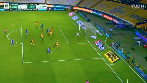 Tigres vs. Cruz Azul: Juan Escobar y el 1-0 con un potente remate dentro del área | VIDEO