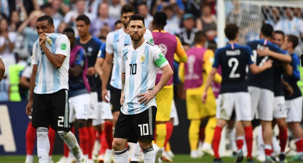 Argentina se despidió de Rusia 2018 con un amargo 4-3. Inició abajo en el marcador, pero luego remontó contra todo pronóstico. Al final no aguantó su ventaja y recibió dos duros golpes de Mbappé, la figura del encuentro. (Foto: AFP)