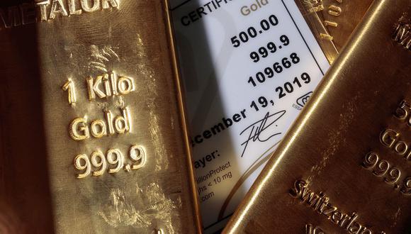 Los futuros del oro estadounidense bajaron un 2,4% a US$1.791,50. (Foto: AFP)