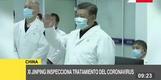 Coronavirus: Presidente de China supervisa tratamiento del virus