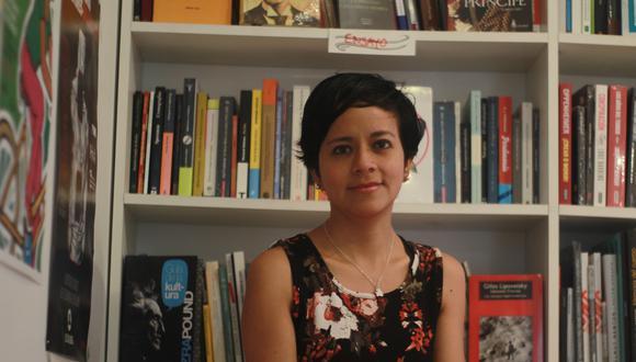 María Victoria Vásquez Córdova, autora de la letra del Himno del Bicentenario. Crédito: Vanessa Zamudio.