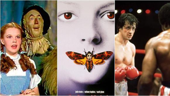 """""""El mago de Oz"""", """"El silencio de los inocentes"""" y """"Rocky"""". (Fotos: MGM))"""