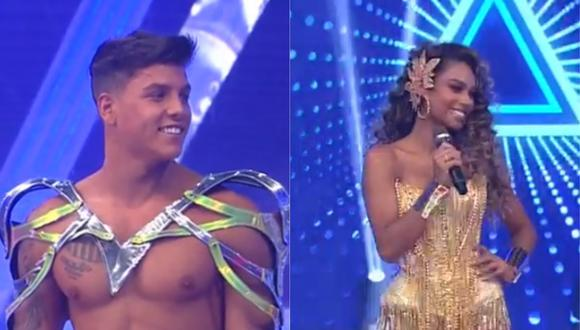 """Tomi Narbondo y Ximena Peralta fueron presentados en la nueva temporada de """"Esto es guerra"""". (Foto: Captura América TV)"""