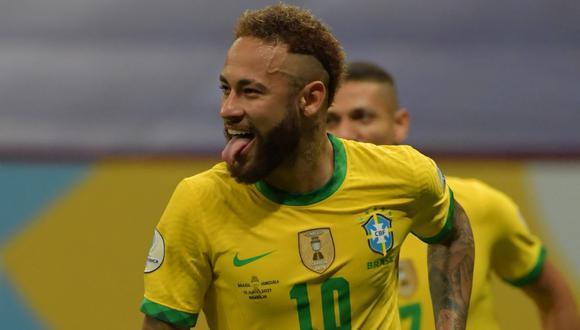 Neymar es uno de los máximos anotadores de la Copa América con dos tantos. (Foto: AFP)