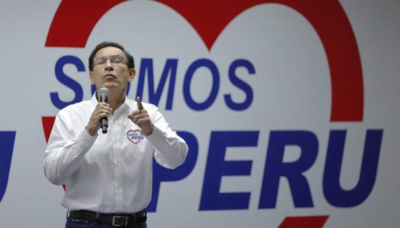 El expresidente Martín Vizcarra, vacado por el Congreso en noviembre, postulará al Parlamento por la lista de Somos Perú en Lima. (Miguel Yovera | GEC)