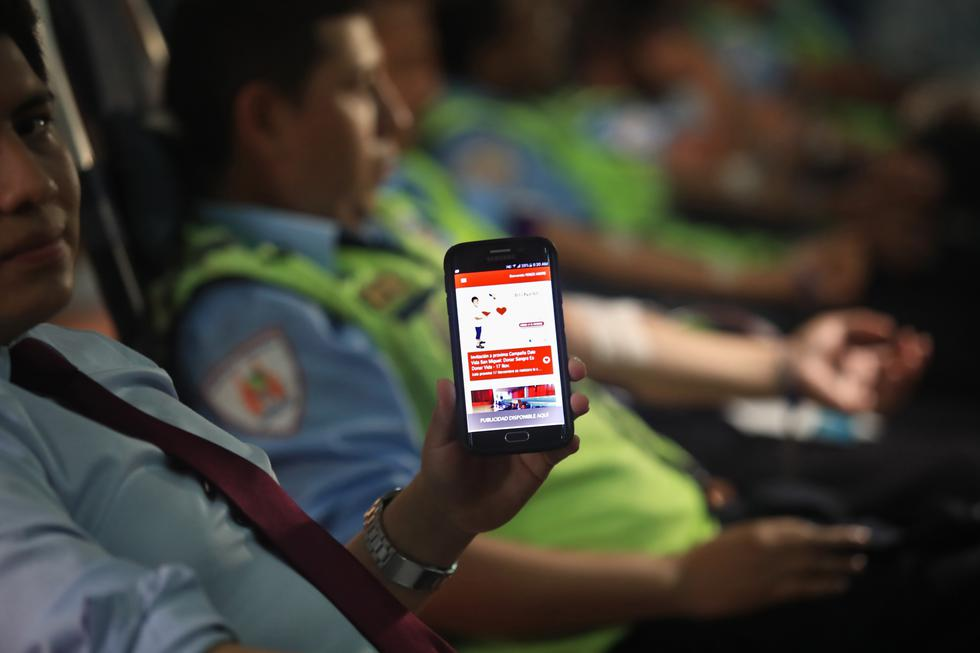 El lanzamiento de la aplicación móvil fue ayer en el Instituto Nacional de Enfermedades Neoplásicas (Fotos: Dante Piaggio)