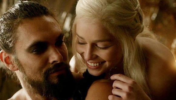 """Emilia Clarke y Jason Momoa dieron vida a una de las parejas más queridas de la serie """"Game of Thrones"""". (Foto: HBO)."""
