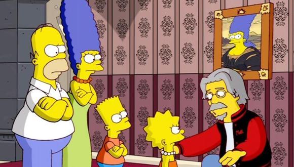 Homero, Marge, Lisa y Bart frente a su creador, Matt Groening en Los Simpson. (Foto: Fox).
