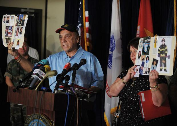 Relatives of the September 11 victims.  (Pool)