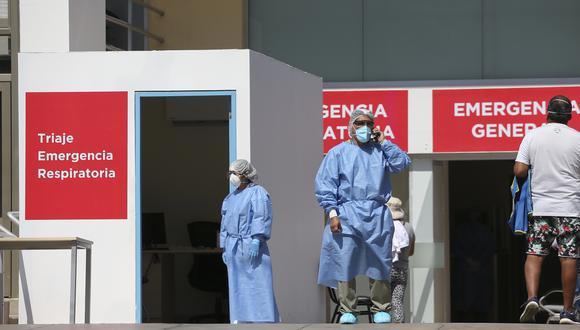 Zona de ingreso para pacientes con COVID-19 en la clínica Maison de Santé. (Foto: Manuel Melgar)
