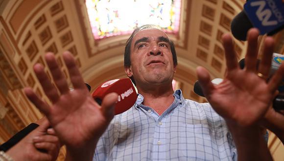 Yonhy Lescano fue denunciado por la periodista ante el Congreso el último viernes 1 de marzo por presunto acoso sexual. (Foto: GEC)