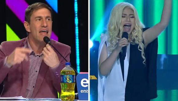 """Nadja Quintanilla de """"Yo soy""""  fue elogiada por su imitación a Christina Aguilera. (Foto: Captura Latina)."""