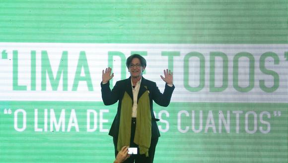 """Villarán, al momento de lanzar su candidatura a la reelección en Lima, aseguró que ella  representaba """"la honestidad versus la corrupción"""". Cinco años después aceptó que sabía del financiamiento de OAS  y Odebrecht. (Foto: El Comercio)"""