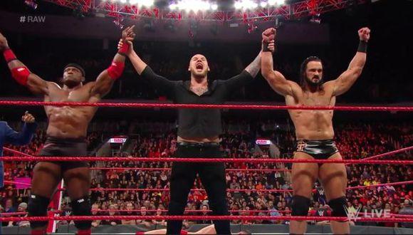 Baron Corbin continúa dominando Raw de la mano de Drew McIntyre y Bobby Lashley | Foto: WWE