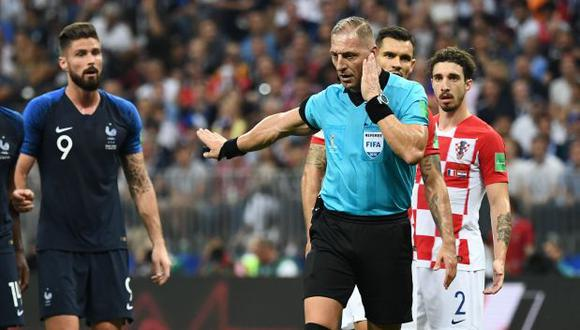 Nelson Pitana en la final del Mundial Rusia 2018. (Foto: AFP)