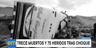 Arequipa: Choque de buses deja 13 muertos y 75 heridos