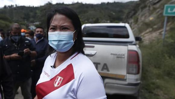 Keiko Fujimori se pronunció sobre los compromisos firmados por su contendor de Perú Libre, Pedro Castillo, y la excandidata de Juntos por el Perú, Verónika Mendoza   Foto: Hugo Pérez / @photo.gec