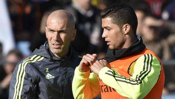 Zinedine Zidane habló sobre la posible vuelta de Cristiano Ronaldo en Real Madrid. (Foto: AFP)